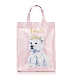 Harrods of London. Princess Westie shopper bag, medium.