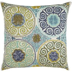 Azure Medallions Pillow