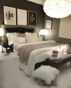 30 Teen Girl Bedroom Decor Ideas Home Bedroom Decor White Bedroom Decor, Room Ideas Bedroom, Home Decor Bedroom, Living Room Decor, Master Bedroom, Bedroom Designs, Budget Bedroom, Gray Bedroom, Bedroom Bed