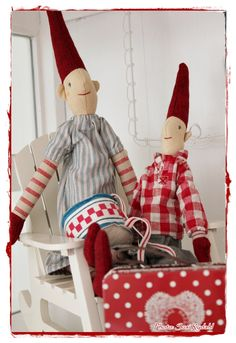 Christmas ...I love these skinny tomte (or nisse) Kind of a different 'take' on PIXIE