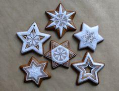 Vianočné Christmas Gingerbread, Diy Christmas Ornaments, Sugar Cookie Frosting, Sugar Cookies, Royal Icing, Foods, 3d, Crack Crackers, Blue Prints
