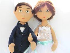 Cute wedding cloth dolls. Gift for wedding. Make to order.