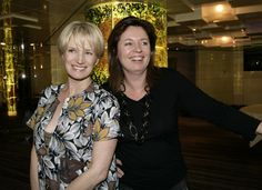 """Jane Turner and Gina Riley, creators and stars of """"Kath and Kim. Kim Tv, Lady And Gentlemen, Films, Movies, Horn, Lakes, Fountain, Gentleman, Film"""