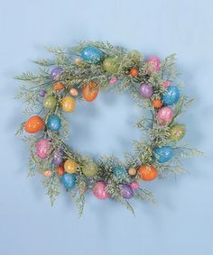 Look what I found on #zulily! Sparkle & Fern Egg Wreath by Transpac Imports #zulilyfinds