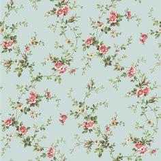 Casabella II Floral Trail Wallpaper, Blue/Pink/Pink/White/White/Brown/Various Green Hues