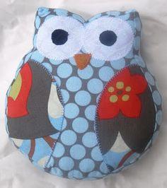 Sew much time, Sew little Fabric: Owl Softie free Pattern/Tutorial  http://sewlittlefabric.blogspot.com.au/2011/03/owl-softie-free-patterntutorial.html?m=1