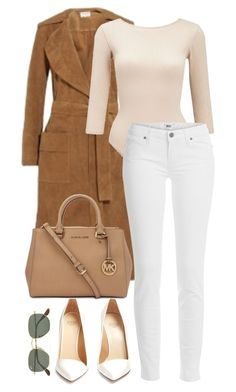 """""""Untitled #1124"""" by fashionmodelstyle ❤ liked on Polyvore featuring Frame, Francesco Russo, Miss Selfridge, Ray-Ban, Paige Denim and Michael Kors"""