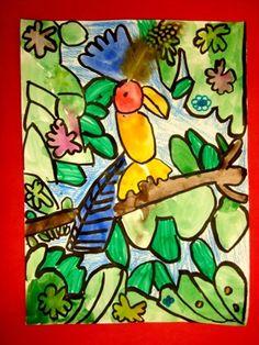 Primary Color Parrots