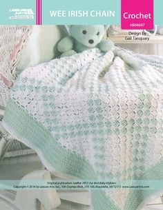 Wee Irish Chain Baby Afghan ePattern - Leisure Arts $4.99 Tunisian Crochet Stitches, Baby Afghan Crochet, Baby Afghans, Crochet Quilt, Irish Crochet, Crochet Hooks, Crochet Blankets, Double Crochet, Knit Crochet