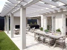 Outdoor BBQ area ideas: 5 tips for your outdoor space Must Read Hinterhof Grillplatz Design-Ideen Outdoor Pergola, Backyard Pergola, Outdoor Areas, Indoor Outdoor, Pergola Ideas, Patio Ideas, Backyard Ideas, Pool Gazebo, Picnic Ideas