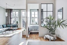 Small Apartment Design, Small Space Design, Small Space Living, Apartment Interior, Small Apartments, Small Spaces, Loft Design, House Design, Modern French Interiors