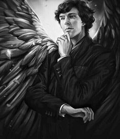 Wing!Lock Sherlock Scarf, Sherlock Holmes, Beauty In Art, Manga Books, Fantasy Races, Arthur Conan Doyle, Deduction, Sketchbook Inspiration, Johnlock