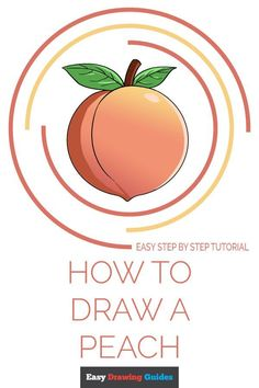 Learn to draw a peach. This step-by-step tutorial makes it easy. Kids and beginners alike can now draw a great looking peach. Drawing Tutorials For Kids, Drawing For Kids, Drawing Tips, Drawing Ideas, Easy Art Projects, Craft Projects For Kids, School Bus Drawing, Learn To Draw, How To Draw Hands