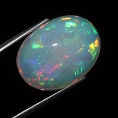 5.84 Ct Natural Gorgeous Multi A++ Color Ethiopian Welo Fire Opal Cabochon 145A
