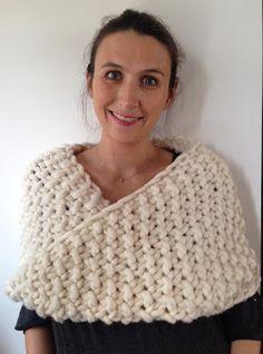 aufildesenvies: Modèle gratuit : un chauffe épaule ou col à tricoter ultra rapide