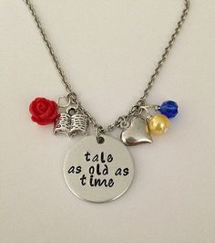 Disney inspired Beauty and the Beast necklace by BellaRayneDesigns