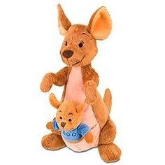 Disney Winnie the Pooh Kanga and Roo Plush - Toy Store Inc. Peluche Winnie The Pooh, Winnie The Pooh Kanga, Disney Winnie The Pooh, Disney Plush, Disney Toys, Disney Stuffed Animals, Baby Boy Toys, Best Friend Drawings, Disney Nursery