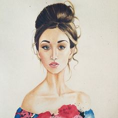 #fashionillustration #illustration #draw #drawing #paint #watercolor