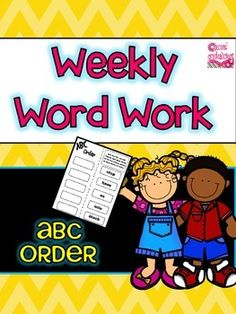 Weekly Word Work - Sight Word Alphabetical Order (Dolch) These print and go worksheets are great for Daily 5, word work, literacy centers, homework etc. There are 44 worksheets, one for every week of the school year! $
