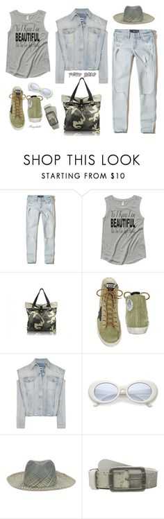 """Distressed Denim for June 2017"" by ragnh-mjos ❤ liked on Polyvore featuring Hollister Co., Golden Goose, MM6 Maison Margiela, G.Viteri, Pistil and Edge Only"