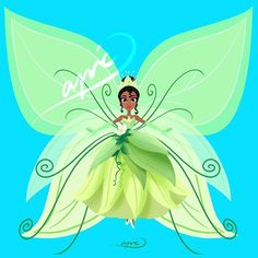 Tiana [as a butterfly] (Drawing by ApicolloDraws Disney Kiss, Tiana Disney, Disney Love, Disney Pixar, Disney Princesses, Butterfly Drawing, Butterfly Fairy, Butterfly Wings, Disney Artwork