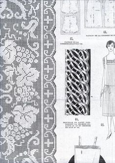 GORGEOUS LOT OF ART DECO EMBROIDERY PATTERNS  FILET