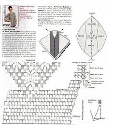 Crochet poncho, free pattern