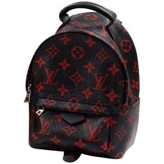 """Pre-owned Backpack """"""""Palm Springs Mini Infrarouge"""""""" (4,310 BAM) ❤ liked on Polyvore featuring bags, backpacks, black, preowned bags, pre owned bags, miniature backpack, louis vuitton and rucksack bags"""
