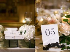 Kate & James Wedding  |  Table numbers and escort cards