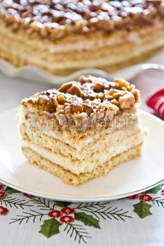 Orzechowiec, miodownik, pychotka - Honey Walnut Layered Cake
