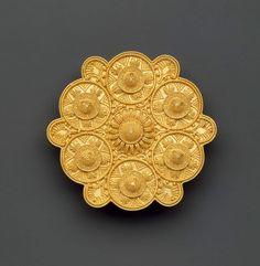 Brooch Castellani (Italian, 1814-1930)  about 1858 Gold