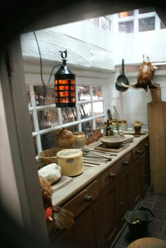 """HMS Victory Galley at Portsmouth display like this for the """"Galley Supplies"""" area. Master And Commander, Old Sailing Ships, Hms Victory, Ship Of The Line, Below Deck, Royal Marines, Wooden Ship, Tall Ships, Model Ships"""