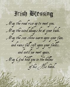 Irish Proverb....for my son