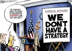 Obama Projects Weakness - Nate Beeler for The Columbus Dispatch.
