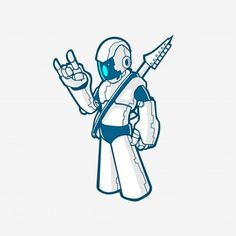 Resultado de imagem para robos mascotes vetorizado