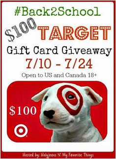ENDS Tonight!! 7/24/2014 Sweepstakes $100 Target GC #Giveaway #Back2School
