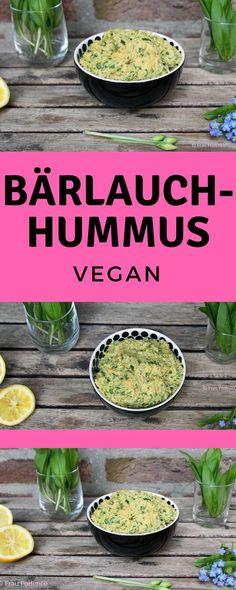 Bärlauch-Hummus ein leckerer veganer Brotaufstrich, den man ganz einfach selber machen kann. #Rezept #hummus #bärlauch