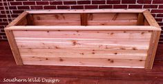 Build a planter box.                                                                                                                                                     More