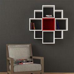 Fiore Shelves, White-Red