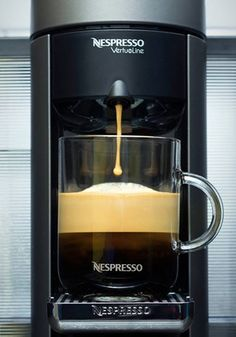 Invest in your morning routine with this Piano Black Evoluo Deluxe machine from Nespresso. With this kitchen essential, your days will be filled with rich coffee blends!