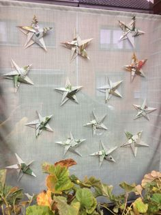 my window decoration, recycling damaged books to make origami stars ✭ Origami Stars, Wrapping, Recycling, Wraps, Window, Decoration, Paper, Books, How To Make
