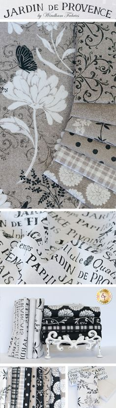 Jardin de Provence is a collection by Daphne Brissonnet for Windham Fabrics. Now available at Shabby Fabrics