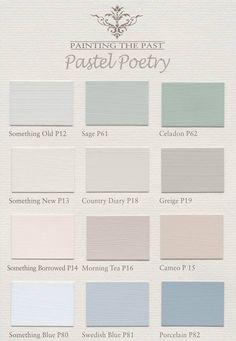 Painting the Past Nuancier Peinture à la Craie - Pastel Poetry - Painting the Past