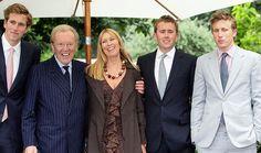 David Frost & Lady Carina Fitzalan-Howard with their three sons