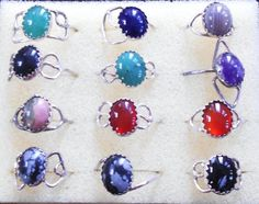 Jade, Agate, Onyx, Amethyst, Unakite, Red Agate, Snowflake Obsidian Rings for fingers or toe's $13.00 USD each