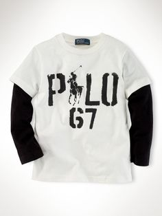 Long-Sleeved Graphic Tee - Boys 2-7 Sweatshirts & Tees - RalphLauren.com love black and white