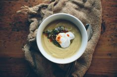 "food52: "" Get Carried Away with Lentils Lentil Caraway Soup & Pistachio Herb Pesto via Kinfolk """