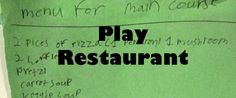 ideas for playing restaurant #kids