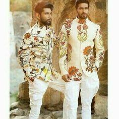 20 Latest Engagement Dresses For Men - Dress Shop Indian Groom Dress, Wedding Dresses Men Indian, Wedding Dress Men, Wedding Suits, Wedding Groom, Punjabi Wedding, Indian Weddings, Farm Wedding, Wedding Couples