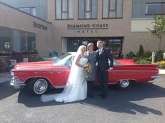 Mary and Jonathan with a beautiful Cadillac